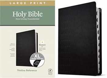 9781496445346-1496445341-NLT Large Print Thinline Reference Holy Bible (Red Letter, LeatherLike, Cross Grip Black, Indexed): Includes Free Access to the Filament Bible App ... Notes, Devotionals, Worship Music, and Video