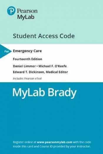 9780135479148-0135479142-MyLab BRADY with Pearson eText -- Access Card -- for Emergency Care