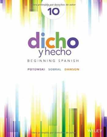 9781118615614-1118615611-Dicho y hecho: Beginning Spanish (Spanish Edition) - Standalone book