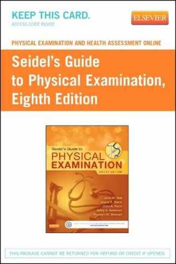 9780323172677-0323172679-Physical Examination and Health Assessment Online for Seidel's Guide to Physical Examination (Access Code): An Interprofessional Approach