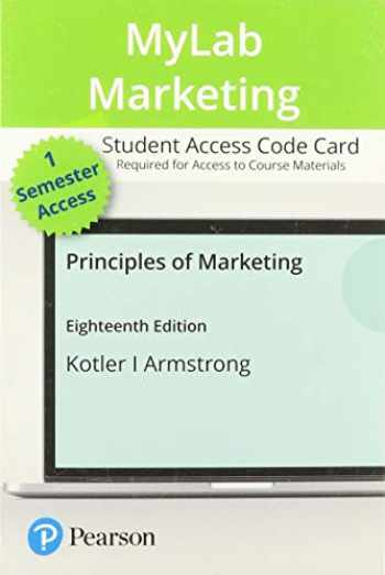 9780135766606-0135766605-MyLab Marketing with Pearson eText -- Access Card -- for Principles of Marketing (18th Edition)