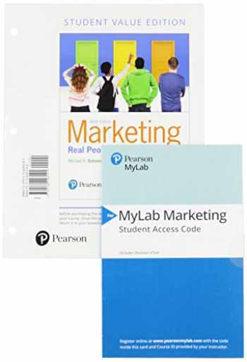 9780135983362-0135983363-Marketing: Real People, Real Choices, Student Value Edition + 2019 MyLab Marketing with Pearson eText -- Access Card Package