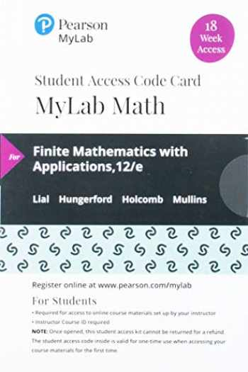 9780135904251-0135904250-MyLab Math with Pearson eText -- 18 Week Standalone Access Card -- for Finite Mathematics with Applications