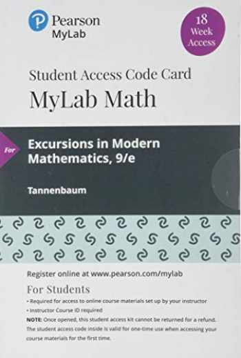 9780135902868-013590286X-MyLab Math with Pearson eText -- 18 Week Standalone Access Card -- for Excursions in Mathematics