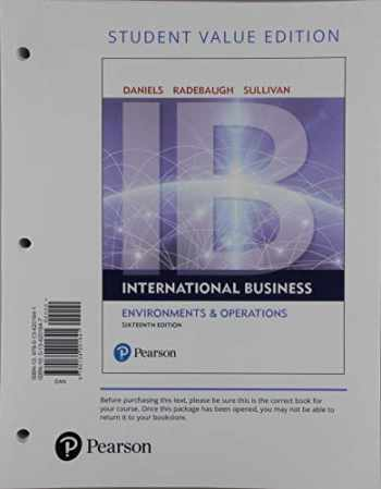 9780136169659-0136169651-International Business, Student Value Edition + 2019 MyLab Management with Pearson eText -- Access Card Package