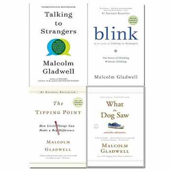 9789123948000-9123948000-Malcolm Gladwell 4 Books Collection Set (Talking to Strangers, Blink, The Tipping Point, What the Dog Saw)