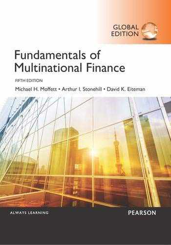 9781292076539-1292076534-Fundamentals of Multinational Finance, Global Edition