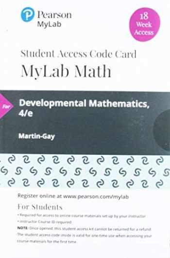9780135910757-0135910757-MyLab Math with Pearson eText -- 18 Week Standalone Access Card -- for Developmental Mathematics