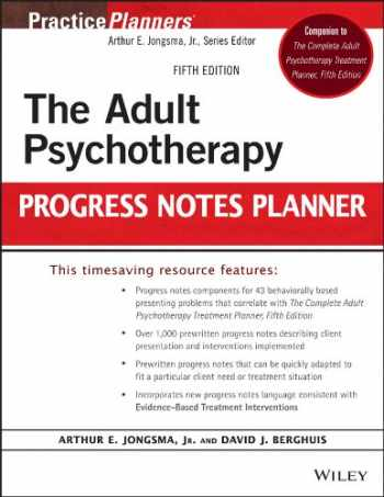 9781118066751-1118066758-The Adult Psychotherapy Progress Notes Planner: Fifth Edition