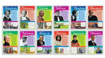 9780545161176-0545161177-Scholastic Teacher's Friend Notable African Americans Bulletin Board (TF8026), Multiple Colors