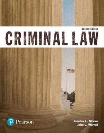 9780134559094-0134559096-Criminal Law (Justice Series) (The Justice Series)