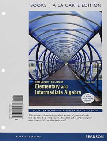9780321951939-032195193X-Elementary and Intermediate Algebra, Books a la Carte Edition, Plus MyLab Math -- Access Card Package