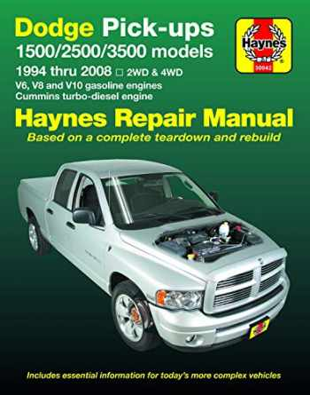 9781620922873-1620922878-Dodge 1500, 2500 & 3500 Pick-ups (94-08) with V6, V8 & V10 Gas & Cummins turbo-diesel, 2WD & 4WD Haynes Repair Manual (Does not include information specific to SRT-10 models.) (Haynes Automotive)
