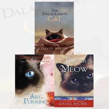 9789444464555-9444464555-David Michie The Dalai Lamas Cat 3 Books Bundle Collection (The Dalai Lama's Cat, The Art of Purring, The Power of Meow)
