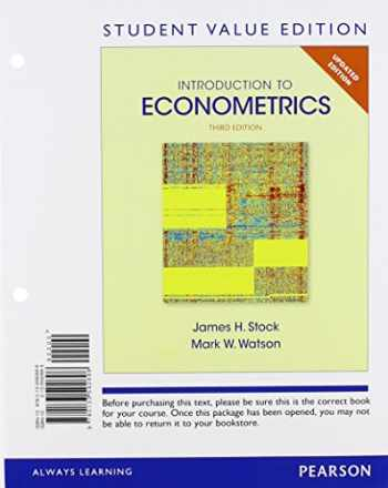 9780133592696-0133592693-Introduction to Econometrics, Update, Student Value Edition