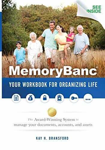 9781630472498-1630472492-MemoryBanc: Your Workbook For Organizing Life