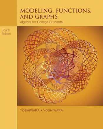9780534419417-0534419410-Modeling, Functions, and Graphs: Algebra for College Students (with iLrn™ Printed Access Card) (Available Titles CengageNOW)
