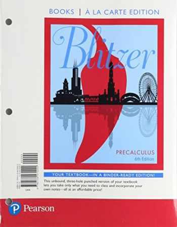 9780134470092-0134470095-Precalculus, Books a la Carte Edition