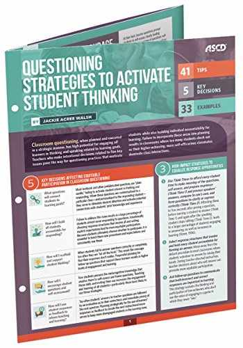 9781416624059-1416624058-Questioning Strategies to Activate Student Thinking (Quick Reference Guide)