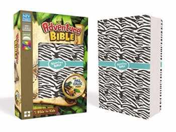 9780310759157-0310759153-NIV, Adventure Bible, Leathersoft, Zebra Print, Full Color Interior