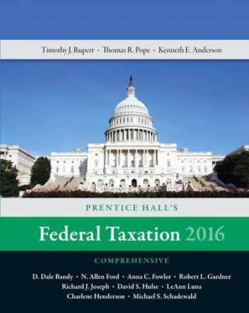 9780134104379-0134104374-Prentice Hall's Federal Taxation 2016 Comprehensive (29th Edition)