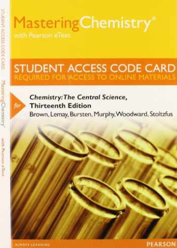 9780321934802-0321934806-Mastering Chemistry with Pearson eText -- Standalone Access Card -- for Chemistry: The Central Science (13th Edition)