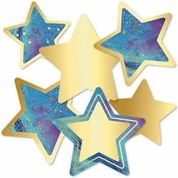 9781483852256-1483852253-Carson Dellosa – Galaxy Stars Colorful Cut-Outs, Classroom Décor, 36 Pieces