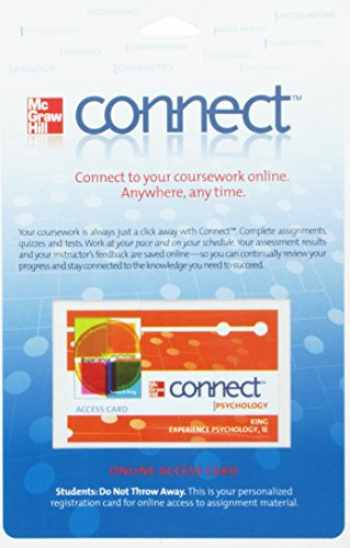9780077343736-0077343735-Connect Psychology Access Card for Experience Psychology