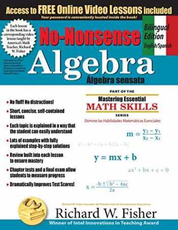 9781734588002-1734588004-No-Nonsense Algebra, Bilingual Edition English-Spanish (Spanish Edition)