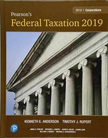 9780134739694-0134739698-Pearson's Federal Taxation 2019 Corporations, Partnerships, Estates & Trusts (32nd Edition)