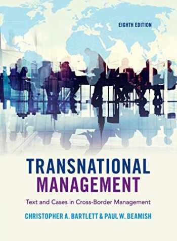 9781108436694-1108436692-Transnational Management: Text and Cases in Cross-Border Management