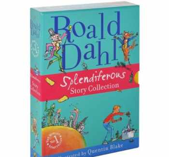 9780141352619-0141352612-Roald Dahl Splendiferous Story Collection Boxed Set: 4 Books Full-Color Illustrations, James and the Giant Peach, Fantastic Mr. Fox, Charlie and the Chocolate Factory, George's Marvellous Medicine