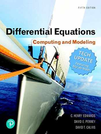 9780134996011-0134996011-Differential Equations: Computing and Modeling Tech Update, Books a la Carte, and MyLab Math with Pearson eText -- 24-Month Access Card Package