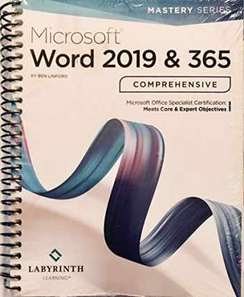 9781640610637-1640610634-Microsoft Word 2019 & 365 Comprehensive