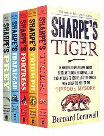 9789123670710-9123670711-Bernard Cornwell's Richard Sharpe's Series 1 to 5 Books Set (Prey, Trafalgar, Fortress, Triumph, Tiger)
