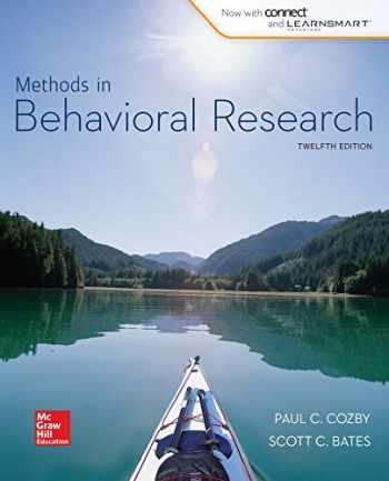 9781259182433-1259182436-Looseleaf for Methods in Behavioral Research