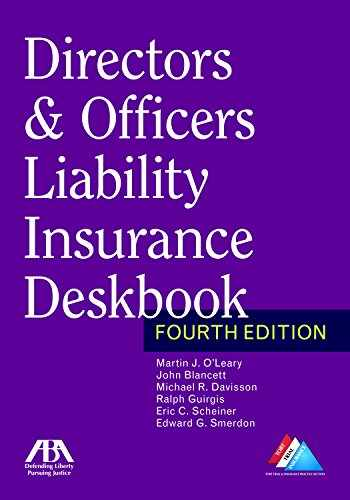 9781634255783-163425578X-Directors & Officers Liability Insurance Deskbook