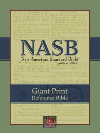 9781581351088-1581351089-NASB Giant-Print Reference Bible: Indexed (Black Imitation Leather)