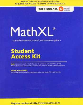 9780321878359-0321878353-MathXL Standalone Access Card (6-month access)