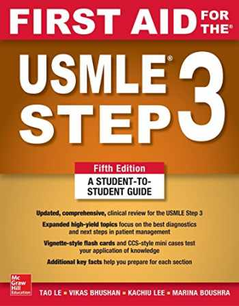 9781260440317-1260440311-First Aid for the USMLE Step 3, Fifth Edition