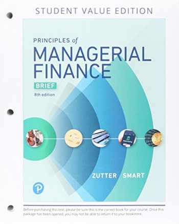 9780134830193-0134830199-Principles of Managerial Finance, Brief, Student Value Edition Plus MyLab Finance with Pearson eText - Access Card Package (8th Edition) (Pearson Series in Finance)