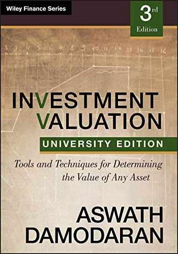 9781118130735-1118130731-Investment Valuation: Tools and Techniques for Determining the Value of any Asset, University Edition