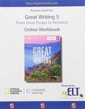 9781285750460-1285750462-Great Writing 5: Online Workbook