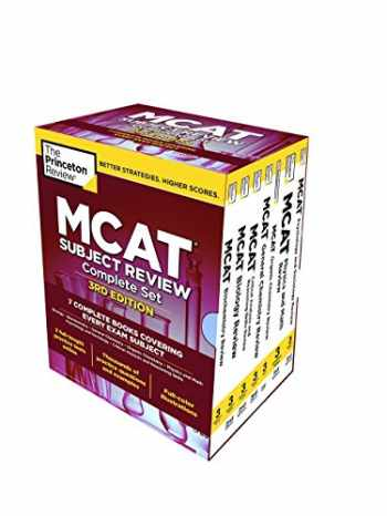 9780525567837-0525567836-The Princeton Review MCAT Subject Review Complete Box Set, 3rd Edition: 7 Complete Books + 3 Online Practice Tests (Graduate School Test Preparation)