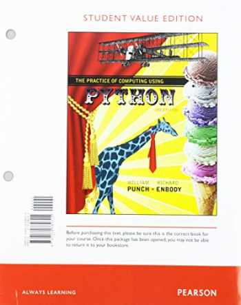 9780134564753-0134564758-Practice of Computing Using Python, The, Student Value Edition Plus MyLab Programming with Pearson eText -- Access Card Package