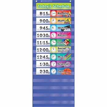 9780545114981-0545114985-Daily Schedule Pocket Chart, Blue
