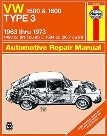 9780900550843-0900550848-VW 1500 & 1600 Type 3 models 1493cc & 1584cc (63-73) Haynes Repair Manual (Haynes Manuals)