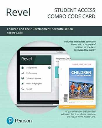 9780135192757-0135192757-Revel for Children and Their Development -- Combo Access Card