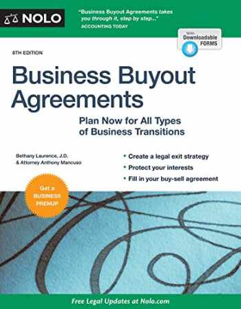 9781413326352-1413326358-Business Buyout Agreements: Plan Now for All Types of Business Transitions