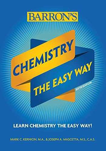 9781438012100-1438012101-Chemistry: The Easy Way (Barron's Easy Way)